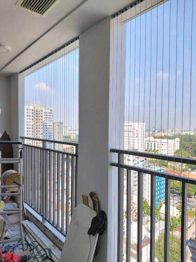 thi công lắp lưới an toàn ban công chung cư cho khách hàng