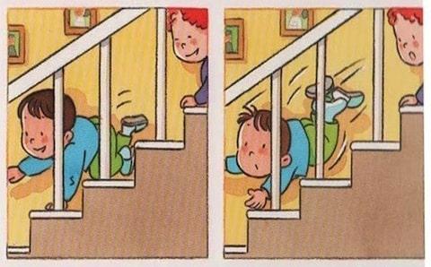 các trường hợp xảy ra khi không có lưới bảo vệ cầu thang cho bé