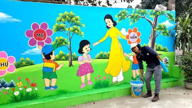 vẽ tranh trang trí tường