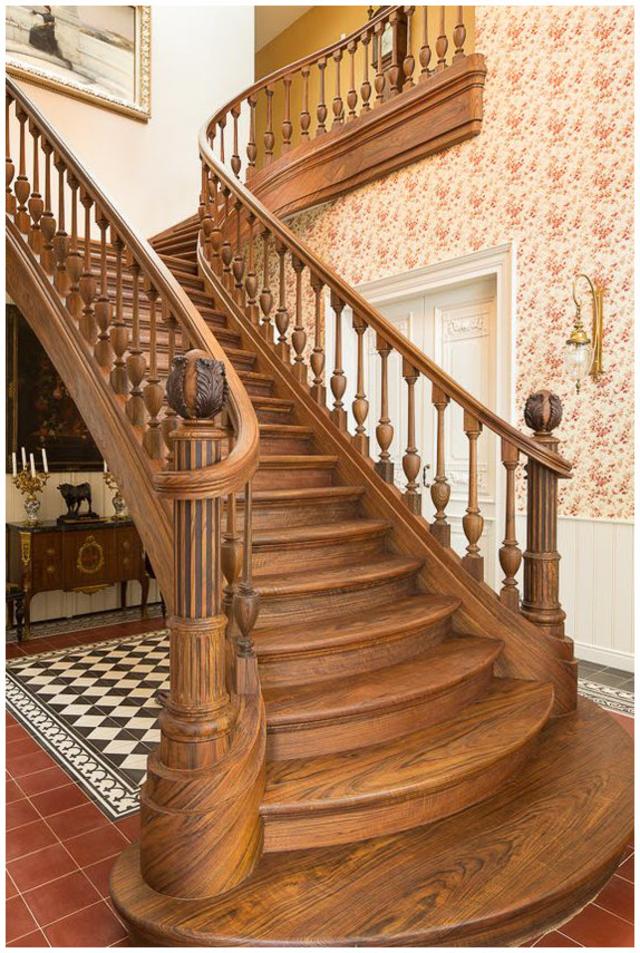 cầu thang gỗ đẹp 10